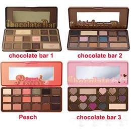 Wholesale Hight quality Sweet Peach Makeup Eye Shadow Chocolate Bar Semi sweet Colors Professional Eyeshadow Palette gift