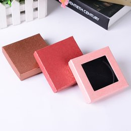 Sunroof jewelry box heaven and earth cover crystal cosmetic mirror square packaging box gift printing logo wholesale