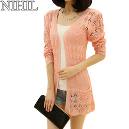 Wholesale,Pink Women Cardigans Plus Size Long Sleeve V,Neck Knitted Sweaters 2016 Spring New Fashion Cardigan Ladies Crochet Casual Blouse