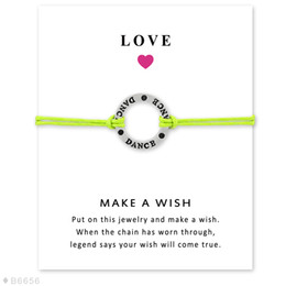 Wholesale Silver Dance Charm Bracelets Bangles for Women Girls Adjustable Friendship Statement Jewelry with Card