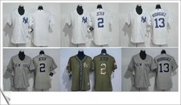 Wholesale Derek Jeter Alex Rodriguez White Women s Baseball Stitched Jerseys Salute to Service New York NY Yankees throwback embroidery Sz S XXL