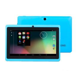 Compra Online Dhl de la tableta de 8 gb-10X DHL D2016 7 PC capacitiva de la tableta de la cámara del androide 4.4 de la base del patio de Allwinner A33 7GB 512MB WiFi EPAD Youtube Facebook Google