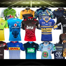 Wholesale Size S XXXL Best Quality warrior indigenous All black rugby jersey hurricane jersey leeds rhinos New Zealand rugby shirt