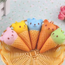 2017 glace aux animaux 8CM Jumbo Kawaii Mignon Squishy Rilakkuma Yummy Bear Ice Cream Animal Slow Rising Bread Bun Cake Sweet Scented Kid Fun Toy Gift glace aux animaux à vendre