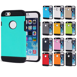 Wholesale Iphone Case Tough Armor Slim Armor For Samsung Galaxy S6 S5 NOTE Dull Polish Shockproof Protector Skin Cover OPP Pack DHL