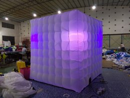 Square Popular and Portable inflatable Photo Booth,Inflatable foto booth enclosure For Sale