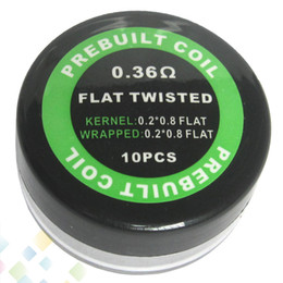 Prebuilt Flat Twisted Coil Resistance 0.36ohm 0.2*0.8*2 Resistance Wire Electronic Cigarette Sold by PC Heating Wire DHL Free