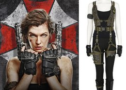 Wholesale Resident Evil The Final Chapter Alice Cosplay Costume includes shoes