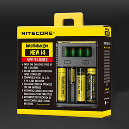 Original Nitecore New I2 Nitecore New I4 Battery Charger with LED Display Charging for 10340 10350, 10440 10500 12340 12500 12650 16650