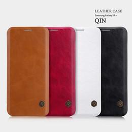 Descuento teléfonos celulares casos de cuero Nillkin Leather PU Material Case for iPhone 7 2 en 1 cajas de teléfono móvil anti caída de lujo teléfono celular protección cáscara
