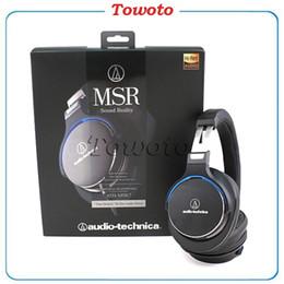 Wholesale Audio Technic ATH MSR7 GreyBlack Brown Over Ear Dynamic Headphones MSR High Resolution Audio Headphones for Android IOS vs earphone MSR10