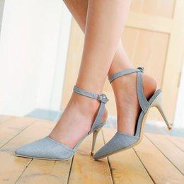 Promotion chaussures habillées pour les femmes prix Grossiste chaussures de talon de talon aiguilles de talon aiguille pointues de talon haut 082