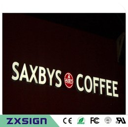 Factory Outlet Outdoor advertising front lit acrylic fronts led channel letters for shop restaurant coffee store signs