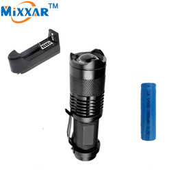 1000LM LED Flashlight LED CREE Q5 Mini Zoomable Bicycle Light LED Bike Light Front Torch 3 Modes Light Waterproof+1*Battery+1*Charger