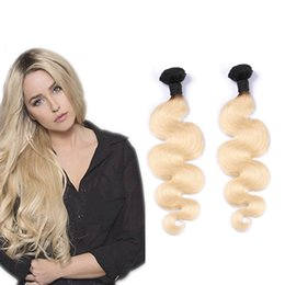 Brazilian Hair Bundles 2pcs lot Body Wave Unprocessed Virgin Human Hair Extensions 12-28 Inch Ombre T1B 613 Blonde Direct Factory Price