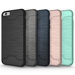 Line Pattern Case for Apple iphone 6 6s Luxury Back Case Cover for iphone 7 7 Plus phone Case Card Slot