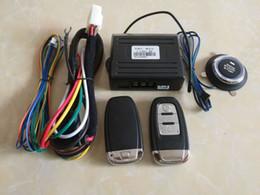Compra Online Sistema de alarma a distancia un coche-Sistema de alarma de coche PKE entrada sin llave Inicio remoto cerradura de seguridad Smart coche sistema de alarma pulsador coche remoto motor Start Stop