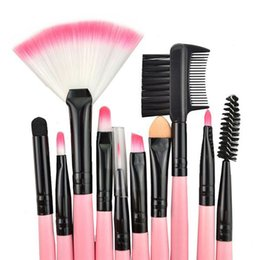 2017 vendas de maquiagem Hot Sale Eye Shadow Makeup Brushes com 24pcs / set Pink Black Wood Hand Shank Colors Free DHL Shipping