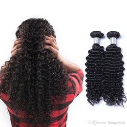 Free Shipping Brazilian Virgin Bundles Deep Wave Curly Hair Weft Peruvian Indian Malaysian Human Hair Extensions Dyeable Factory Price
