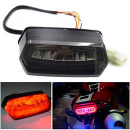 Motorcycle Red LED Brake Tail Light Integrated Turn Signal Fit For Honda CBR650F