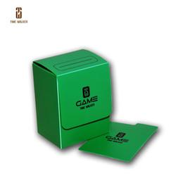 (GREEN)Time Walker Storage Box, MTG Cards Deck Box, Trading Cards Deck Storage Box for Magic Poke Yugioh Cardfight Vanguard