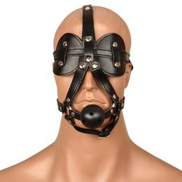 BDSM Bondage Slave Masks Hoods head Harness Neck Collar Hood Adult Sex Mask Toys Products for Women Men