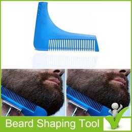 2017 recortar las herramientas de corte Beard Bro Beard Shaping Shaving Brush Plantilla de corte de barba de caballero Plantilla de corte de pelo de corte de pelo Herramientas de modelado de barba recortar las herramientas de corte limpiar