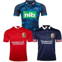 Wholesale 2017 Rugby League New Zealand Super Rugby Union blues High temperature heat transfer printing jersey Rugby Shirts
