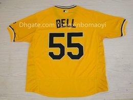 Wholesale Men s Pittsburgh Pirates Josh Bell Barry Bonds Pull Over Stithed Flex Base Baseball Jersey