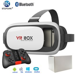 Wholesale Mate VR BOX VR02 D VR Box Glasses Upgraded Version Virtual Reality Google Cardboard D Video for Smartphone Bluetooth Gamepad Mocute