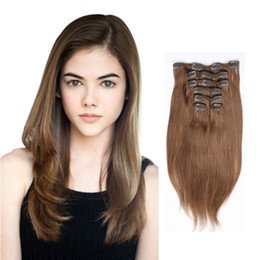 2017 Summer New Arrive Clip In On Hair Extensions 613 Blonde Beauty Color Wholesale Price 100% Real Brazilian Human Hair Extensions