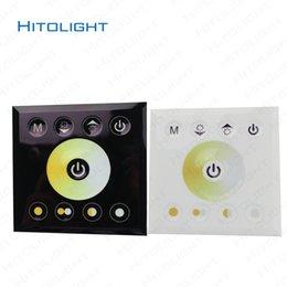 24v диммер панель Онлайн-HITOLIGHT DC12-24V Настенный Сенсорная панель двойной цвет Светодиодный контроллер для двойной цвет Светодиодные полосы света 5050,2835 Dimmer настенный выключатель