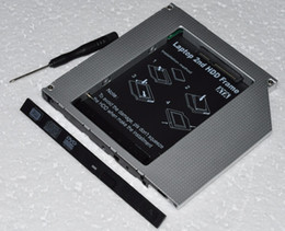 Ide pata dvd en Línea-Venta al por mayor-Universal SATA a PATA IDE 2º HDD SSD Hard Drive Caddy para 9.5mm Universal CD / DVD-ROM ODD Optical Bay