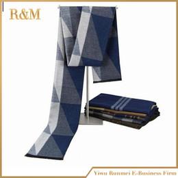 Descuento mejores bufandas de moda Venta al por mayor- invierno moda hombres clásico cachemira lana de cachemira suave estilo negocios estilo bufandas novio mejor regalo