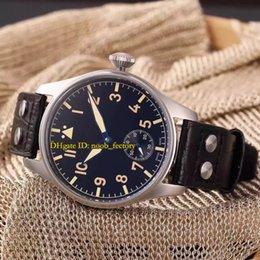 Livraison gratuite New Luxury High Quality Big Pilot's Heritage 44mm Montre mécanique automatique pour hommes IW510401 Bracelet en cuir à partir de bracelet en cuir pilote fournisseurs