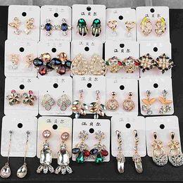 Wholesale Korean version of the new yuan Han Baer super color gold color diamond earrings earrings jewelry