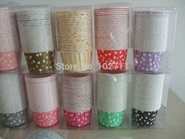 Wholesale Choice Assorted Polka Dots Striped Baking Candy Nut Cups cupcake liners muffin cups Ice cream cups YOU PICK COLORS