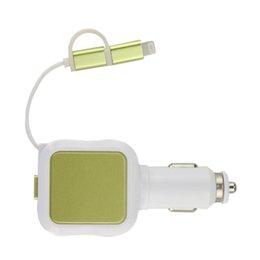 Venta al por mayor- nuevo cargador de coche USB de 2 puertos 4.8A 2-en-1 cable retráctil con 8 conectores micro USB pin micro usb connector retractable on sale desde conector micro usb retráctil proveedores