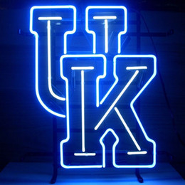 Wholesale UK University Of Kentucky Wildcats Neon Sign College Handmade Real Glass Tube Store Bar KTV Club Advertising Display Art Neon Signs quot X17 quot