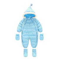 Hot Sell Baby Boys Girl Warm Long Sleeve Cotton Convenient Zipper Rompers Winter baby infant Siamese toddler romper jacket hoody