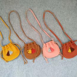 Acheter en ligne Enfants enfants sacs à bandoulière-2017 enfants coréens à une seule épaule Sac enfants Soft Messenger en cuir sac bébé Girl Shell sac à main