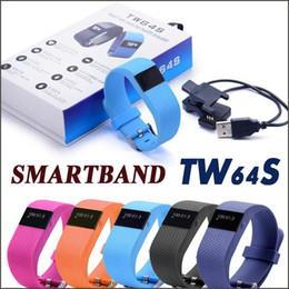 Wholesale SmartBand TW64S Heart Rate Pulse Pulso Inteligente Banda Measure Smart Band Sport Smart Wristband Health Fitness Tracker Free DHL