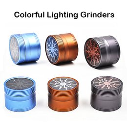 Wholesale Colorful Lighting Grinders Parts Grinder Aircraft Aluminium Alloy Grinder mm Diameter Herb Grinder High Grade Material Fast Shipping