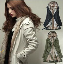 3XL new women's windbreaker jacket european long slim women's windbreaker long sleeved jacket fur thickened Female H104