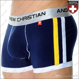 Wholesale ANDREW CHRISTIAN men s underwear Boxer Shorts Sexy Modal Underpants colors DHL