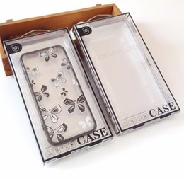 100pcs Wholesale High Class New Fashion Clear Blister PVC Plastic Retail Packaging Package Box For Apple iPhone 4s 5s  6s 7 Phone Case