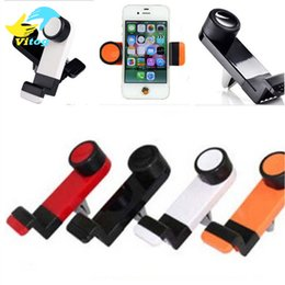 Wholesale Universal Portable Car Air Vent Mount Mobile Phone GPS Holder Frame Degree Rotating for iPhone Plus S smart phone with package