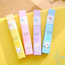 Acheter en ligne Enfants mignons effaceurs-Wholesale-1 Pcs Cute Kawaii Aihao coréenne Lapin Porc Animal Kids Erasers Crayon école Fournitures de bureau Papeterie pour les filles