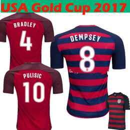 2017 or rouge 2017 2018 Gold Cup USA Red Soccer Jerseys 17 18 USMNT Limited Edition Special États-Unis PULISIC DEMPSEY BRADLEY ALTIDORE Football Shirts or rouge promotion