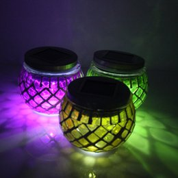 Wholesale Application of colorful glass factory direct sun jar solar lamp night light garden holiday party and wedding Jiapin bar coffee shop